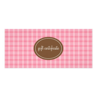 Pink Plaid Boutique Style Gift Certificates