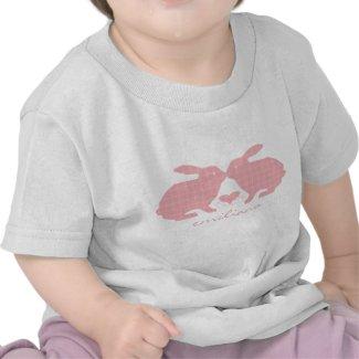 Pink Plaid Bunnies T-Shirt shirt