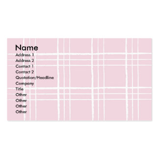 Pink Plaid Business Card