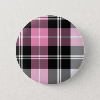 pink plaid button