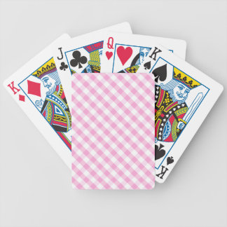 Pink Plaid; Checkered Pattern Bicycle Poker Cards