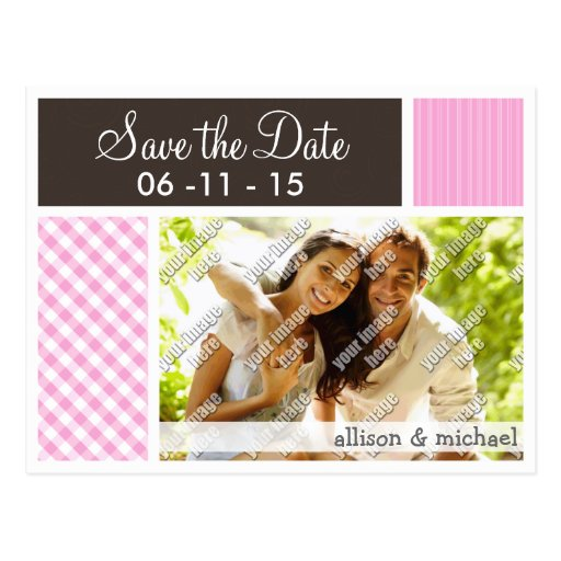 Pink Plaid; Checkered Postcards