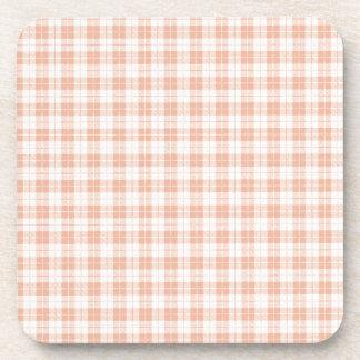 Pink Plaid Coaster