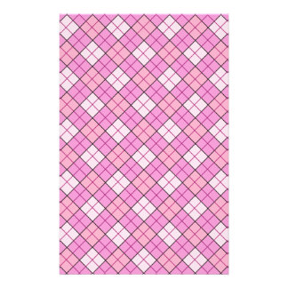 Pink Plaid Craft Paper
