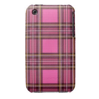 Pink plaid iPhone 3 case