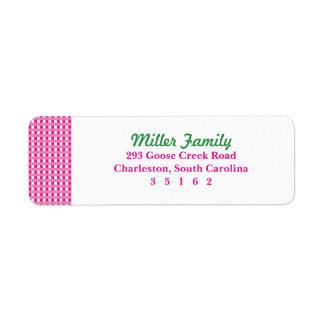 Pink Plaid Label
