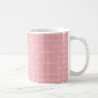 Pink Plaid Mug