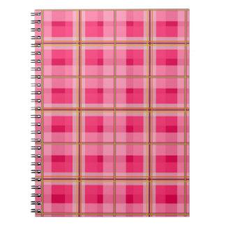 Pink Plaid Notebook