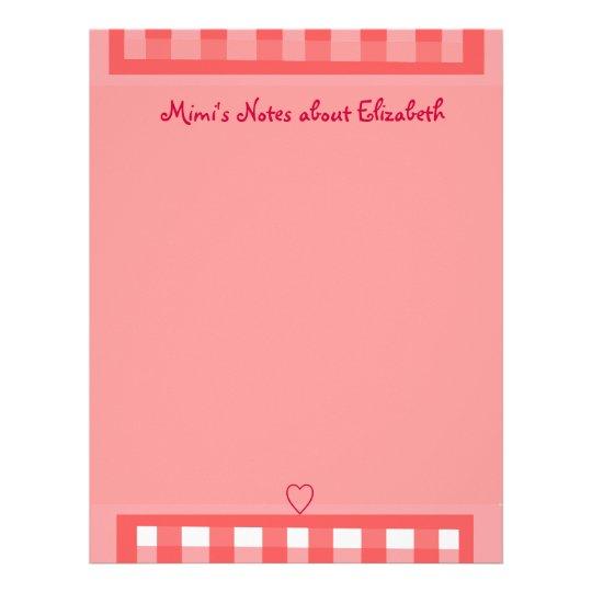 Pink Plaid Paper