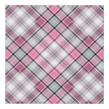 Art Themed Pink Plaid Pattern Chic Faux Canvas Print