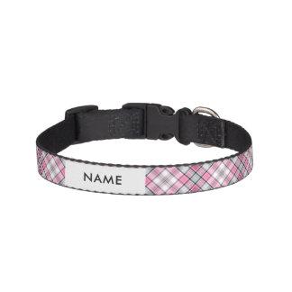 Pink Plaid Pattern Chic Pet Collar