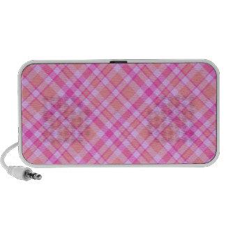Pink Plaid Pattern Speaker