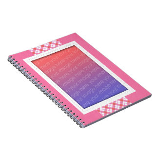 Pink Plaid Photo Template Notebooks