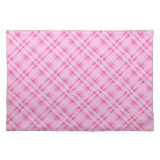 Pink plaid placemat