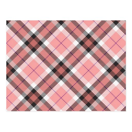 Pink Plaid Post Cards