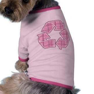 Pink Plaid Recycle Sign Pet Clothing