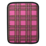 Pink plaid sleeve for iPads