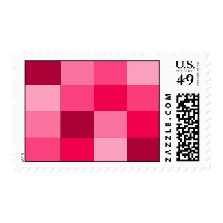 pink plaid stamp