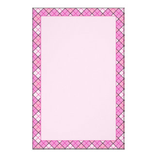 Pink Plaid Stationery