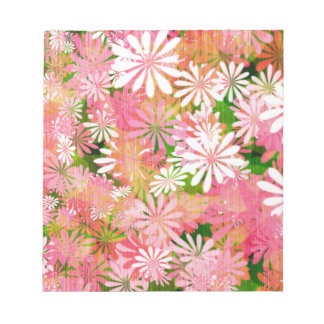 Pink plants notepad