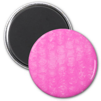 Pink Plastic Bubble Wrap 2 Inch Round Magnet