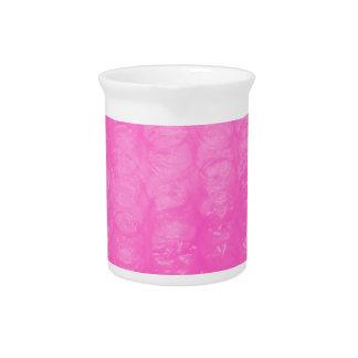 Pink Plastic Bubble Wrap Beverage Pitcher