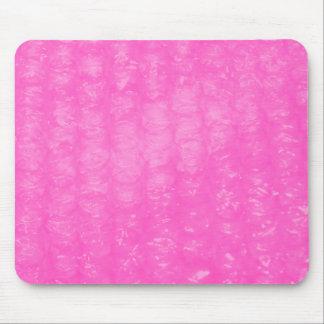 Pink Plastic Bubble Wrap Mouse Pad