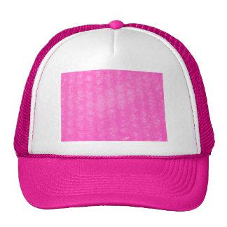 Pink Plastic Bubble Wrap Trucker Hat