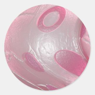 pink plastic classic round sticker