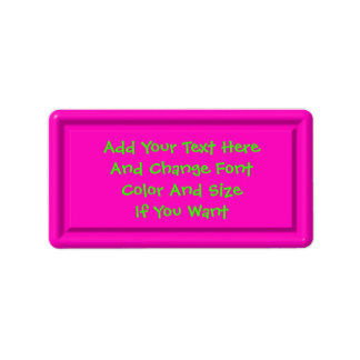 Pink Plastic Label Template