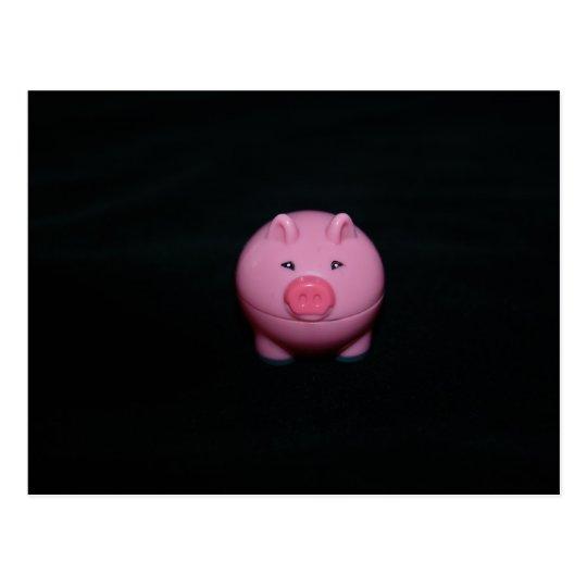 Pink Plastic Pig  Post Card