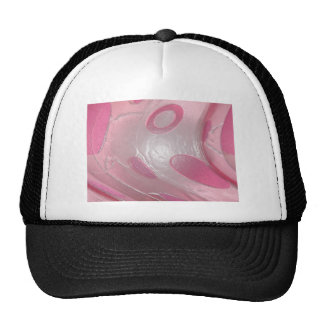 pink plastic trucker hat