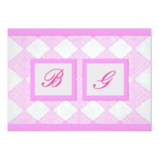 'Pink pleasure' wedding invitation