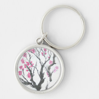 Pink Plum Blossoms Keychain