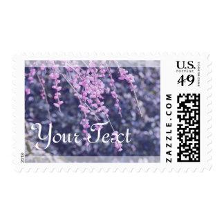 Pink Plum Blossoms Violet Vintage Tones Spring Postage Stamps