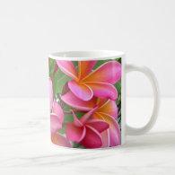 Pink Plumeria Coffee Mugs