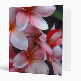 Pink Plumeria Flowers Wedding Binder