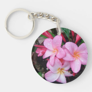 *Pink Plumeria Key Chain* Keychain