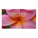 Pink Plumeria Massage Business Cards Template