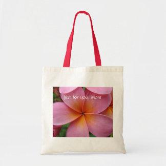 Pink Plumeria Tote Tote Bag