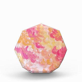 PINK PLUMES - Soft Pastel Wispy Pretty Peach Melon Acrylic Award