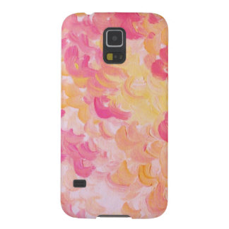 PINK PLUMES - Soft Pastel Wispy Pretty Peach Melon Cases For Galaxy S5