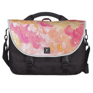PINK PLUMES - Soft Pastel Wispy Pretty Peach Melon Laptop Bags