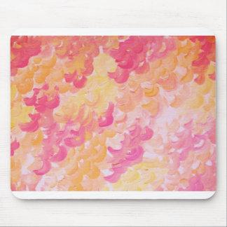 PINK PLUMES - Soft Pastel Wispy Pretty Peach Melon Mouse Pad