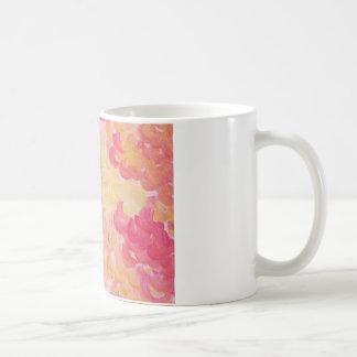 PINK PLUMES - Soft Pastel Wispy Pretty Peach Melon Coffee Mug