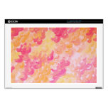 PINK PLUMES - Soft Pastel Wispy Pretty Peach Melon Skins For Laptops