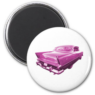 Pink Plymouth Tail Fins 2 Inch Round Magnet