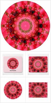 Pink Poinsettia Christmas Mandala
