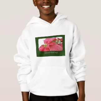 Pink Poinsettias 1 - Seasons Greetings Hoodie