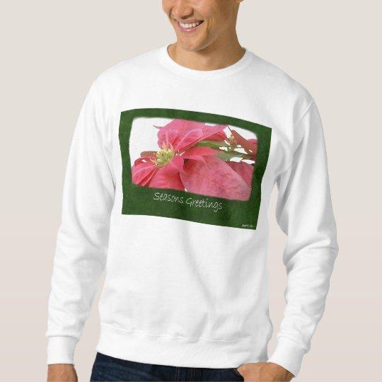 Pink Poinsettias 1 - Seasons Greetings Sweatshirt